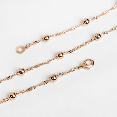 """Chain """"Euphoria"""" large beads, color gold, width 4 mm, L=48 cm"""