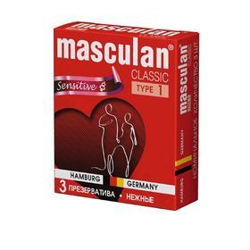 Презервативы Masculan 1 classic, нежные 3 шт
