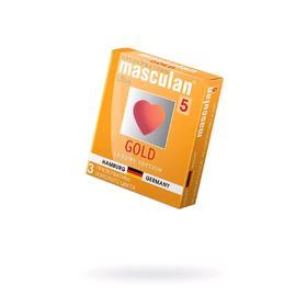 Презервативы Masculan 5 Ultra, утонченый латекс золотого цвета, 3 шт