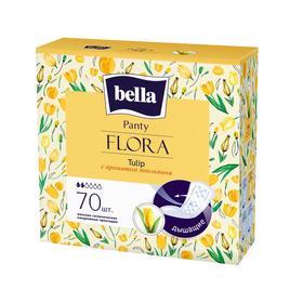 Прокладки женские гигиенические ежедневные bella Panty FLORA Tulip с ароматом тюльпана по 70