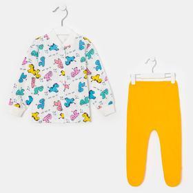 Комплект (кофточка, ползунки) детский, цвет жёлтый, рост 62 см
