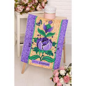 Полотенце вафельное «Дерево изобилия», 45х60см, цвет голубой