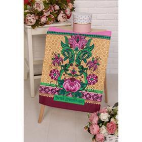 Полотенце вафельное «Дерево изобилия», 45х60см, цвет розовый