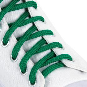 Шнурки для обуви, пара, круглые, 5 мм, 90 см, цвет зелёный