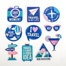 Набор для чемодана «Следуй за мечтой», 2 предмета: ремень, наклейки - фото 4638346