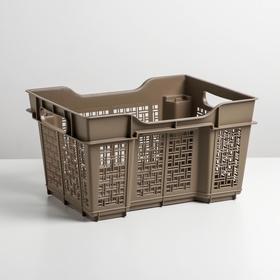 Ящик универсальный 16 л, 40×30×22 см, цвет капучино Ош