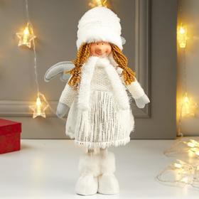 "Interior doll ""Angel in enticing white skirt with a silvery rain"" 52х12х19 cm"