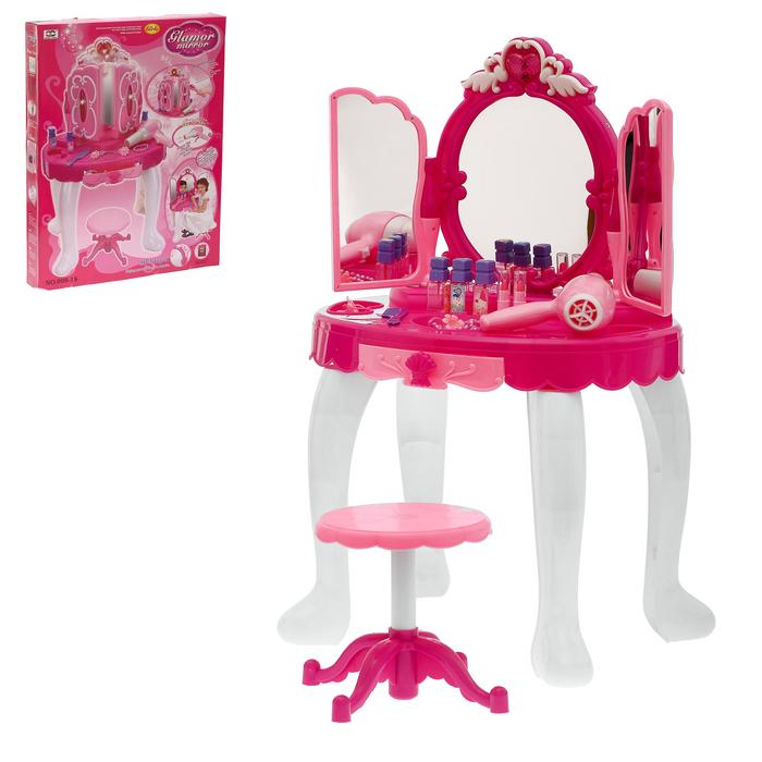 Столик «Волшебница» с аксессуарами, свет, звук, с пультом управления, высота 72 см - фото 1561952