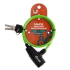 Padlock bike TUNDRA, 6 x 650 mm, perforated key, green
