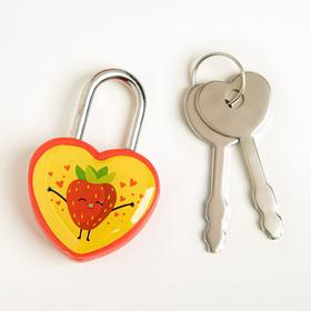 "A lock for a suitcase with keys ""Strawberry"", 4 x 2.8 cm"