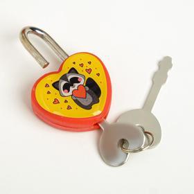 Замочек для чемодана с ключами «Енотик» - фото 1786922