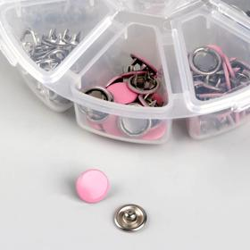 Button closed shirts. d9. 5mm (neb 50pcs price for nab) in Boxing 8,2*8,2*2,8 cm D513 pink metal