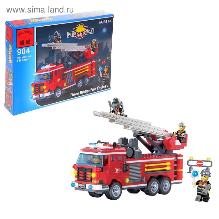 """Конструктор Пожарные спасатели """"Спасательная машина"""", 364 детали и 4 спасателя"""