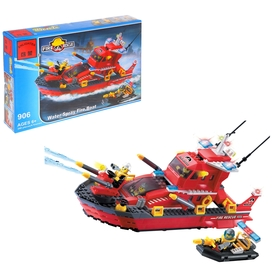 Конструктор «Пожарный катер», 340 деталей и 4 фигурки