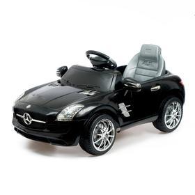 Электромобиль MERCEDES-BENZ SLS, с радиоуправлением, свет и звук, цвет черный, Уценка (царапины, потёртости)