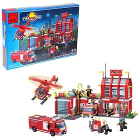 Конструктор «Пожарная станция», 980 деталей и 8 пожарных
