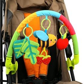 Дуга игровая мягкая на коляску/кроватку «Пчёлка»