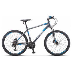 """Велосипед 26"""" Stels Navigator-590 D, K010, цвет серый/синий, размер 16"""""""