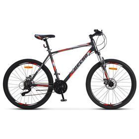 """Велосипед 26"""" Десна 2650 MD, V010, цвет серый/красный, размер 18"""""""