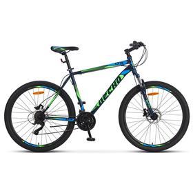 """Велосипед 27,5"""" Десна 2710 D, V010, цвет cиний/зелёный, размер 19"""""""