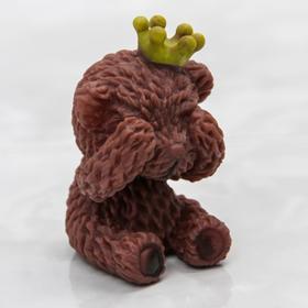 Игрушка для купания «Мишка принц», с пищалкой, цвет МИКС