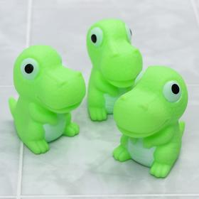 "A set of bath toys ""Dinosaur"", 3 PCs, with Squeaker"