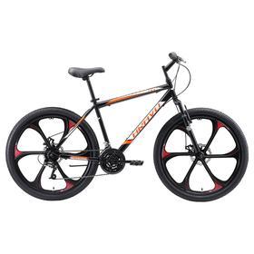 """Велосипед 26"""" Bravo Hit D FW, 2020, цвет черный/оранжевый/белый, размер 16''"""