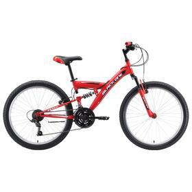 """Велосипед 24"""" Black One Ice FS, цвет красный/белый/чёрный"""