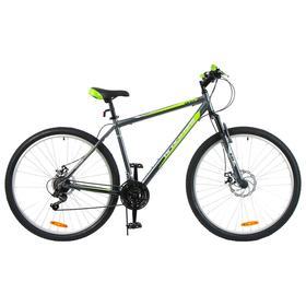 """Велосипед 29"""" Black One Onix D, Al, цвет серый/зелёный/чёрный, размер 22"""""""