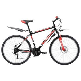 """Велосипед 26"""" Bravo Hit D, цвет черный/белый/оранжевый, размер 16"""""""