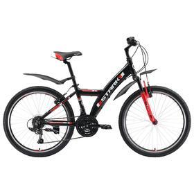 """Велосипед 24"""" Stark Rocket Y 1 V, 2019, цвет чёрный/красный"""