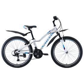 """Велосипед 24"""" Stark Bliss 1 V, 2020, цвет белый/бирюзовый/фиолетовый"""