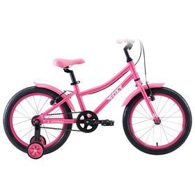 """Велосипед 18"""" Stark Foxy Girl, 2020, цвет розовый/белый"""