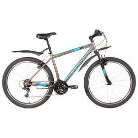 """Велосипед 26"""" Stark Outpost 2 V, 2020, цвет коричневый/синий/черный, размер 20"""""""