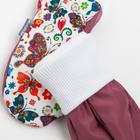 Варежки для девочки А.048, цвет бордовый, размер 14 - фото 105569159