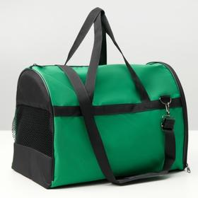 "Сумка-переноска ""Лонги"" 24 х 41 х 30 см, зеленая"