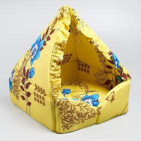 "Домик ""Люлька"", закрытый, 40х40х45 см, желтый оттенок"