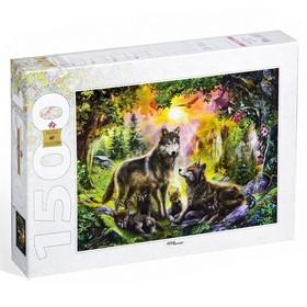 Пазл «Волки», 1500 элементов