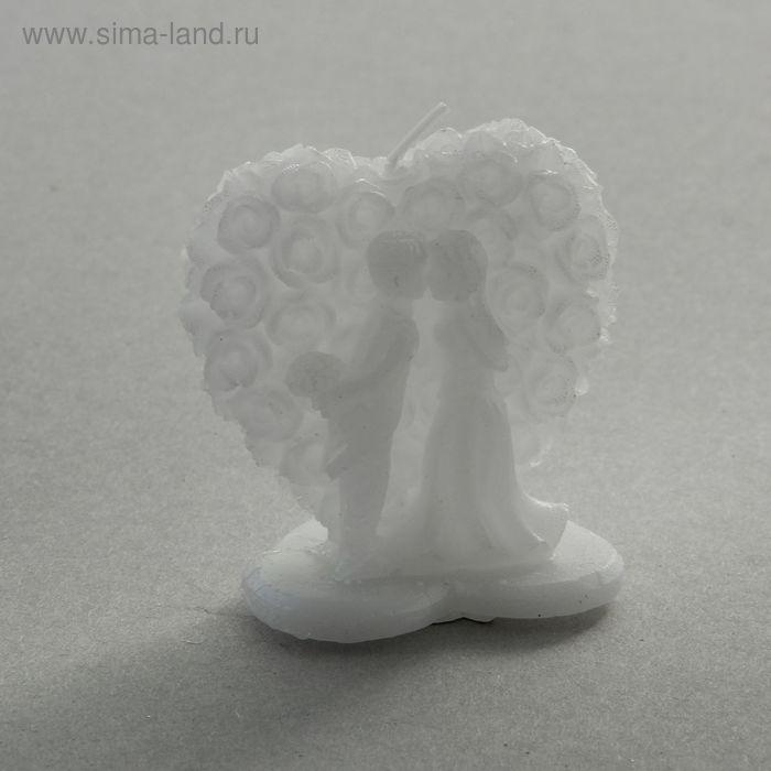 """Свеча восковая """"Жених и невеста"""", цвет белый"""