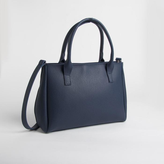 Сумка женская, отдел на молнии, наружный карман, цвет синий - фото 1146718