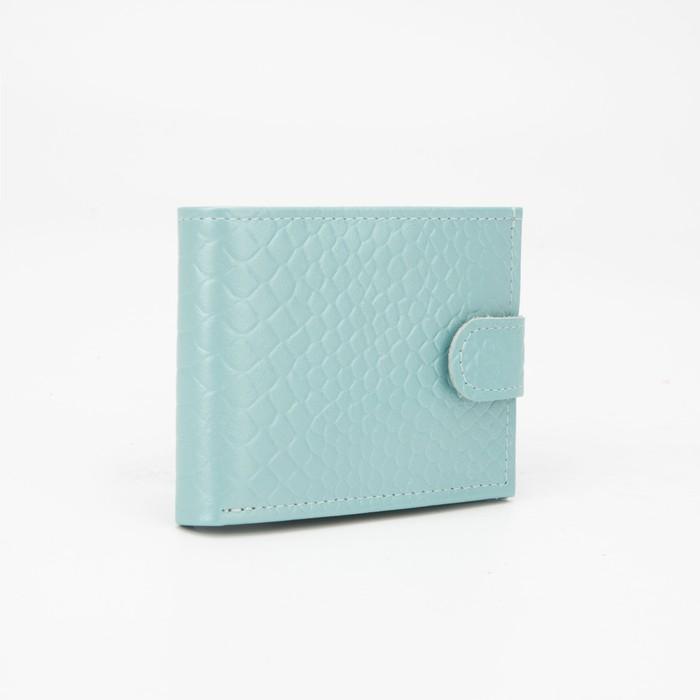 Кошелёк женский, отдел на клапане, цвет голубой - фото 59066