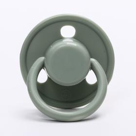 Соска-пустышка классическая, латекс, от 0 мес., цвет серый