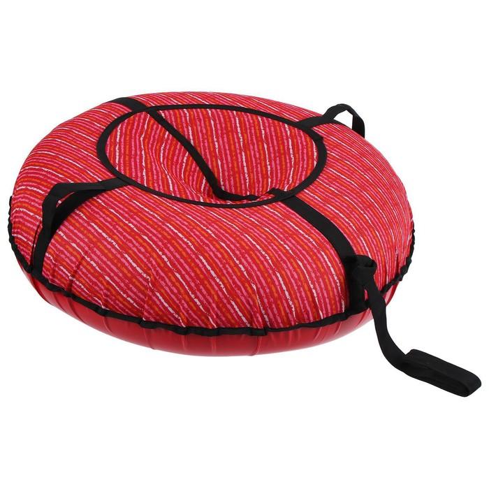 Тюбинг - ватрушка, диаметр 80 см, ткань с рисунком, цвет МИКС