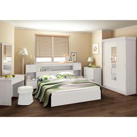 Спальный гарнитур Бася (Комплект 7 предметов) белый