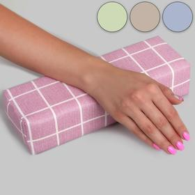 Cushion for manicure 28*9*6,5 cm rectangular and leathers.Zam. cage MIX