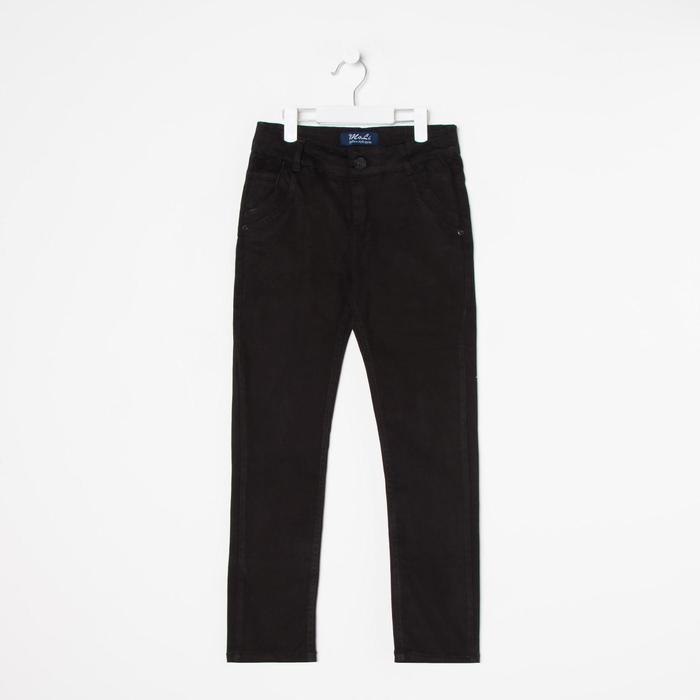 Брюки для мальчика, цвет чёрный, рост 104 см - фото 105703216