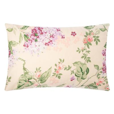 "Ethel pillowcase 50*70cm ""lilac"", 100% cotton,calico,125 g/m2"