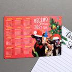 """Magnet calendar 2021 """"Fun meet 2021!"""", 12 x 8 cm"""