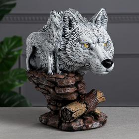 """Сувенир """"Волк"""", 33 см, белый"""