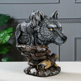 """Сувенир """"Волк"""", 33 см, серый"""